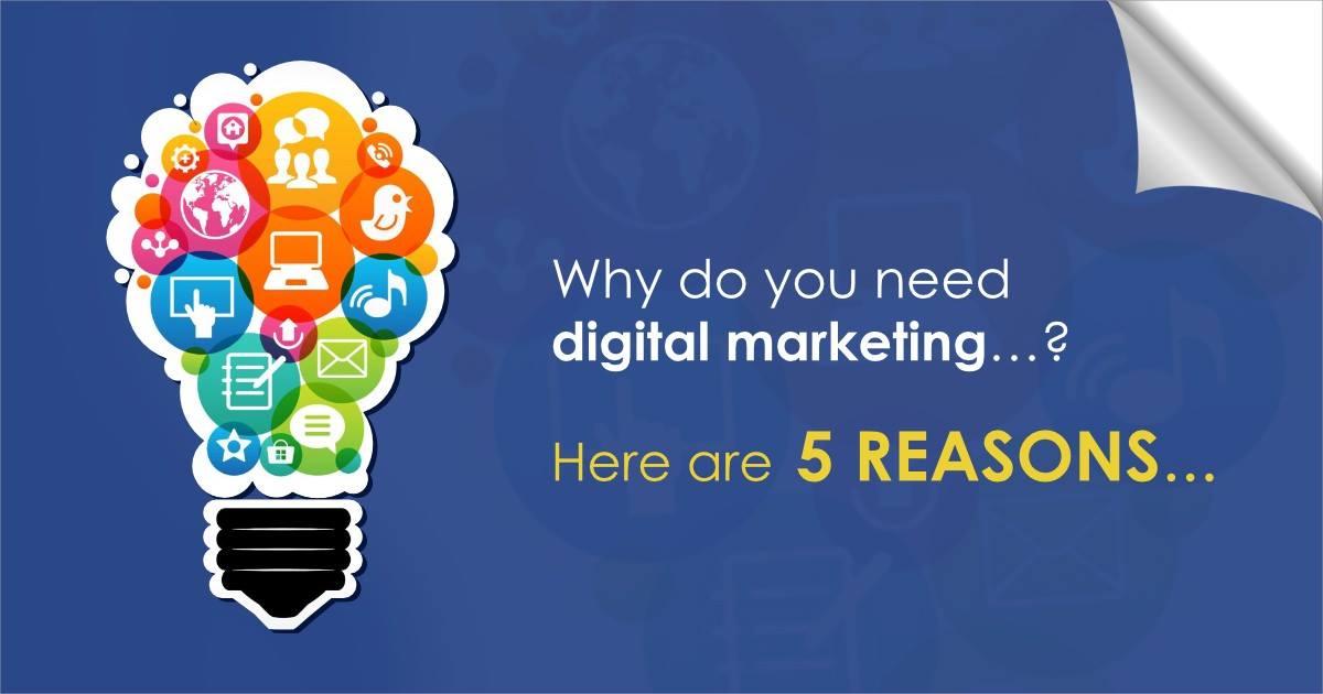 5 Clear Reasons Why You Need Digital Marketing | Techsaga Corporations