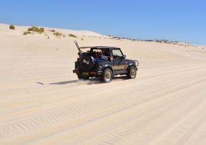 Does traction help with driving on the dunes?