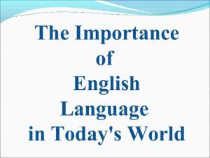 , Value of English Language Curriculum In Ukrainian